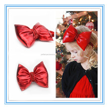 New fashion Girls hair accessories Flashing Christmas hairband Large red bow baby Christmas headband