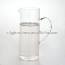 Popular small volum heat resistant pyrex glass pitcher