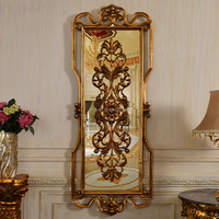 623BM Classic Antique Gold Interior Decorative Glass Wall Hanging
