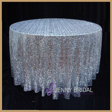 SQN#01A cheap and hotsale silver sequin wedding tablecloth
