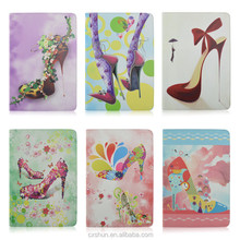 Pretty High Heels Print Design PU Leather Flip Stand Book Covers Case For iPad Air 2 For iPad 6 From Factory