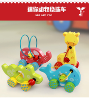 Animal Wooden Car with Wire Labyrinth for Kids Mini Educational Toys for Kids Games