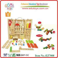 2015 New Style Cheap Small Carpenter Tool Kids Toy Wooden Tool Box