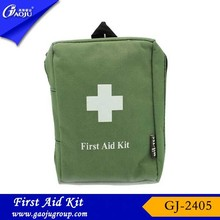 GJ-2405 Hot Selling Easy Carry Oxford Material Light Green Color Military First Aid Kit