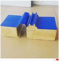2015 Fireproof Color Steel Polyurethane PU Steel Sandwich Panel 50mm