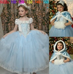 Children's fashion wedding dress kids frozen dress summer evening dress girls pretty dresses