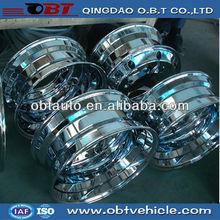 22.5 chrome plating aluminum truck wheel