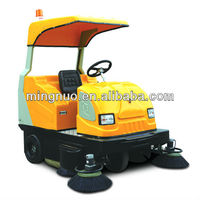 mini auto street sweeper, street driver sweeper with water pump/Water tank cleanning machine