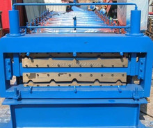 roof and wall steel plate double layer roll forming machine
