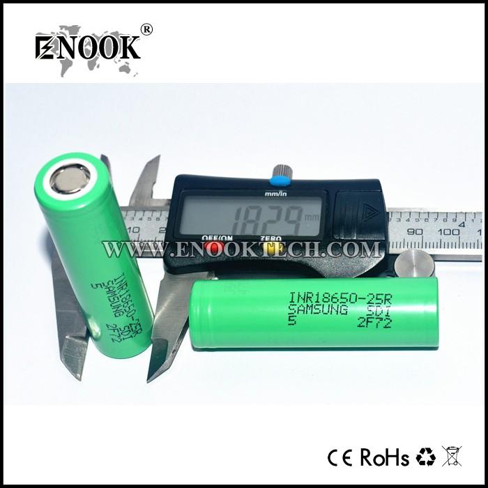 Cilíndrico originais samsung 18650 25r 2500 mAh bateria recarregável com preço mais baixo