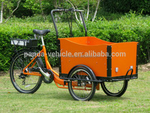 hot sell 3 wheel cargo bike front cargo trike electric bike / family use