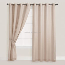 100% nature linen shower curtain with matching window curtain for sale