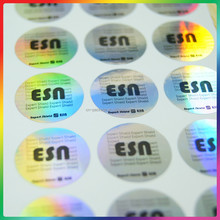laser silver label stickers, 3D hologram laser stickers/label