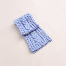 Winter baby knitted scarf, solid color kids twist scarf
