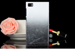 Gradient Color Changing Transparent Clear Plastic Hard Back Cover for Xiaomi Mi4