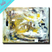 Modern hand made abstract oil art acrylic wall art for hotel decoration