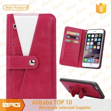 BRG Wallet leather Stand Case for iPhone 6, For iPhone 6 Mobile Phone Case