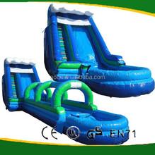 Blue inflatable super water slide/large water slide for kids