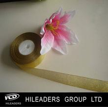BS15 Wedding Adornment Gold Metallic Ribbon