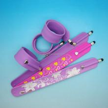 Wholesale OEM custom silk screen imprint silicone slap stylus pen band