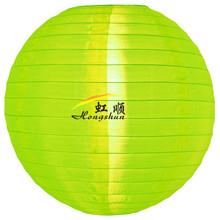 30'' neon green hanging round nylon lantern , waterproof lanterns for party decoration
