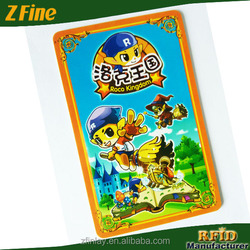 children cartoon playing plastic tarot cards