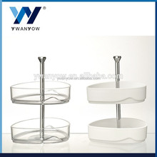 Two tier ACRYLIC cake stand