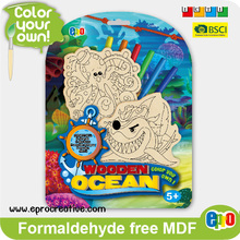 EPRO CA9491A educational wooden children toys for kids, ocean design color your own wooden stand set