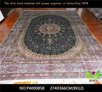 chinese wholesale muslim hand knotted pure silk carpet bathroom use rib carpet