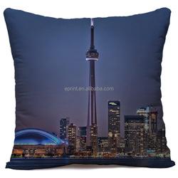 Custom CN Tower travel pillow printing , customize printed CN Tower travel pillow