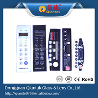 Newest Customized Waterproof PVC printing membrane front panel or switch