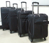 Travel Select cool black 4pcs Light Expand Rolling Luggage Suitcase Bags Set