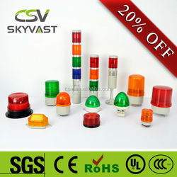 Vehicle emergency Buzzer warning light blue red amber green tower lights CE led beacon lighting
