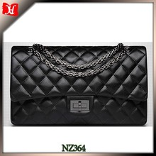 Newest quilted leather evening bag lady fashion handbag for wallets