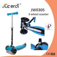 mini new dirt kids kick n go foot pedal push 120mm 3 wheel folding scooter