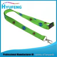 Marketing gift green printed lanyard free sample