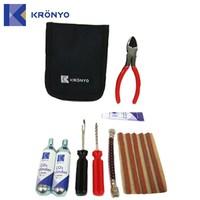 KRONYO tyre repair sealant kit industry co2 gas cylinder car bag