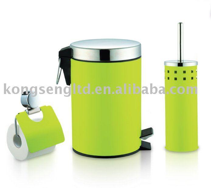 Vert couleur 3 pcs set de bain accessoire for Accessoire de salle de bain vert