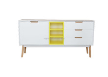 KT made in China yellow and white high quality new style MDF furniture