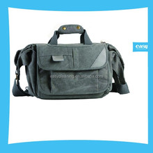 Camera Canvas shoulder Bag with grey and Kakki color with water resistant