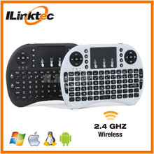 top sale 92 keys i8 2.4g wireless keyboard touchpad for PC Android TV Box