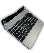 Unique design Aluminum case foldable mini bluetooth keyboard with power bank for ipad 2/3/4