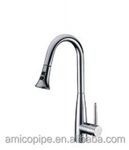 China Factory Supply Copper Single Lever/Handle Pull-Down Sink Mixer/Kitchen Faucet Tap