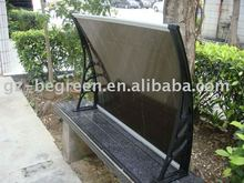 Freesky window and door used plastic rain cover, outdoor polycarbonate sun shed awning/canopy