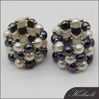 Elastic new design pearl finger ring for women 2015