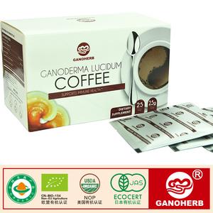 2017 ücretsiz örnek 100% organik sertifikalı kahve ganoderma lucidum reishi mantar lingzhi neskafe