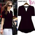 Angela SHIRT-0012 blusa de las señoras T-shirt Wholesale listo para enviar Además Tamaño de la ropa
