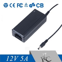 Universal 60w adapter ac 12v 5a power adapter for Desktop LED Light Supply switching adapter