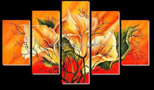 hot sale abstract Group flower oil painting canvas wall art painting