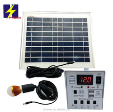 Solar Home System Kit 10W High Powered Led System 12V Solar Panel 10W Lead Acid Battery 7Ah 84W